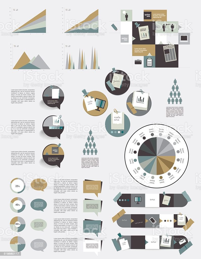Infographic set elements. vector art illustration