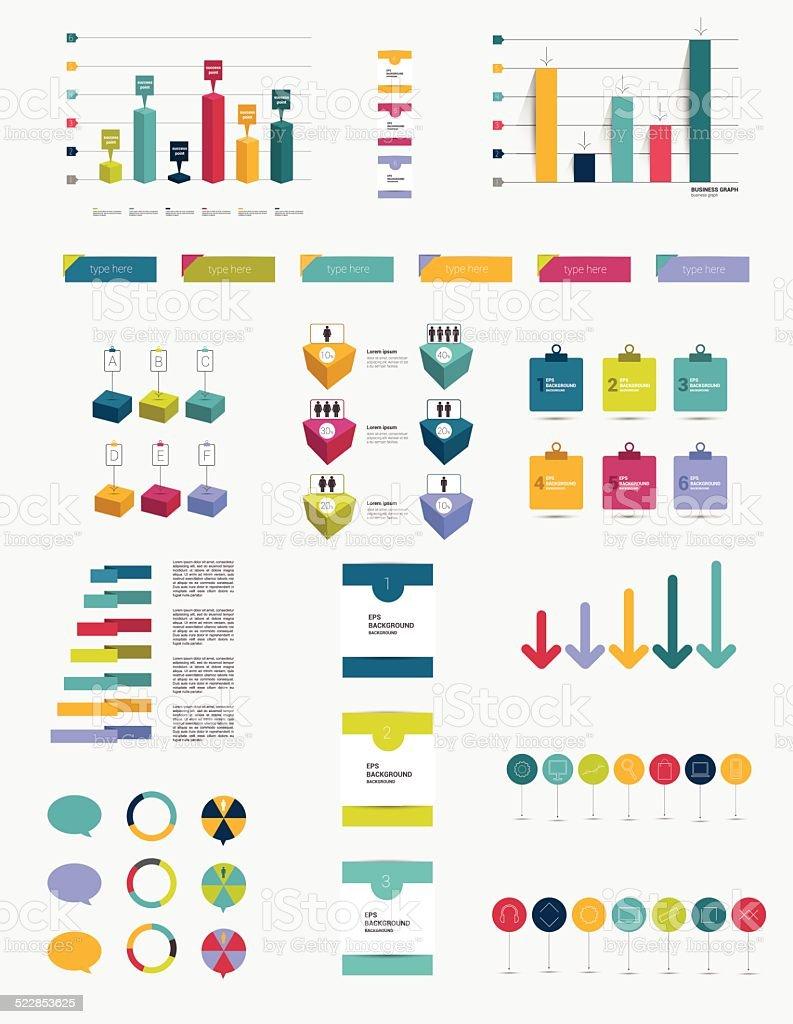 Infographic set elements. vector art illustration