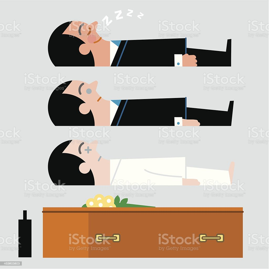 InfoGraphic. Sleeping …or dead! royalty-free stock vector art