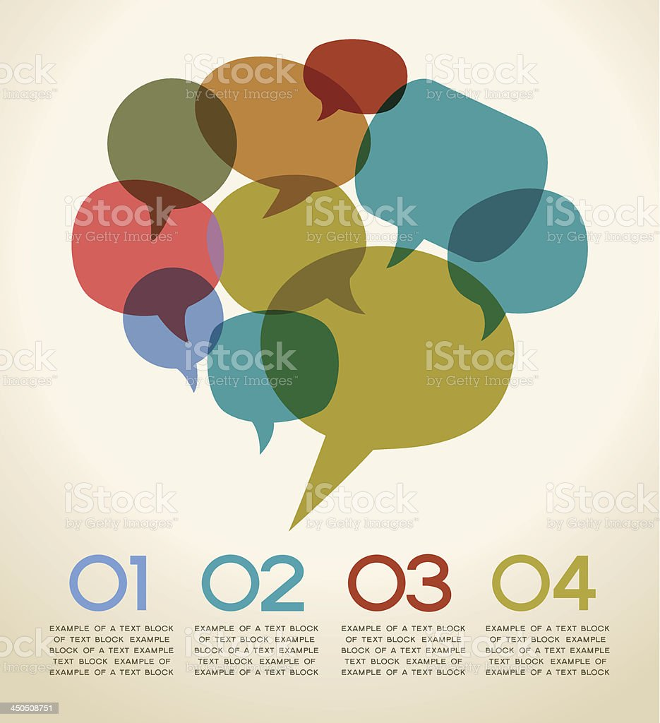 infographic speech bubble royalty-free stock vector art