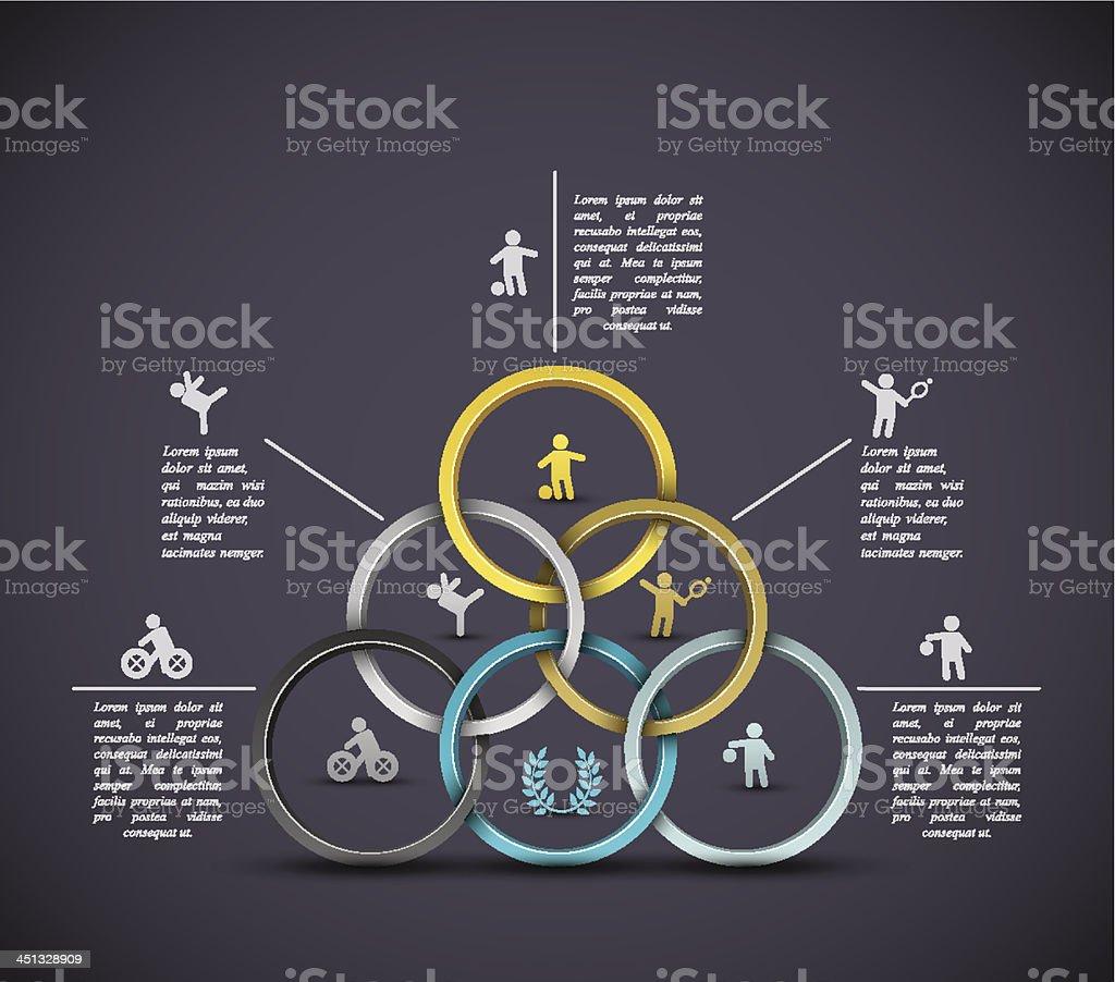 Infographic sport background vector art illustration