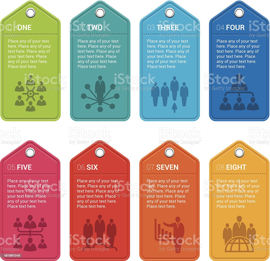 Infographic tags vector art illustration
