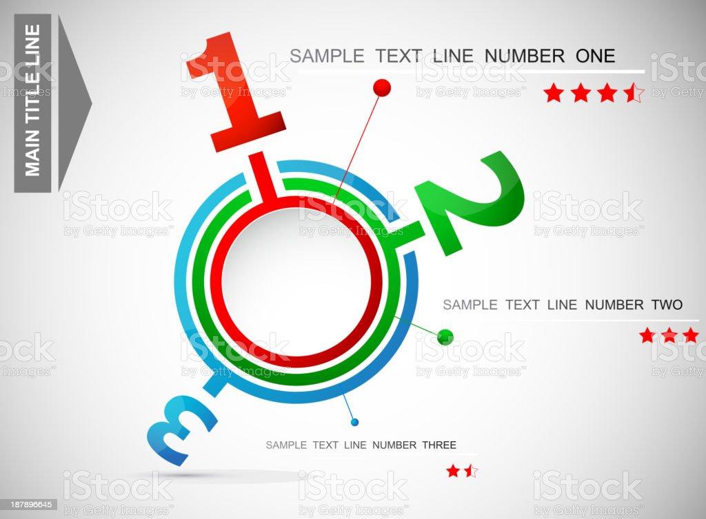 Info-graphic template vector art illustration