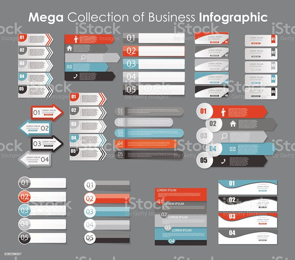 Infographic Templates for Business Vector Illustration. EPS10 vector art illustration