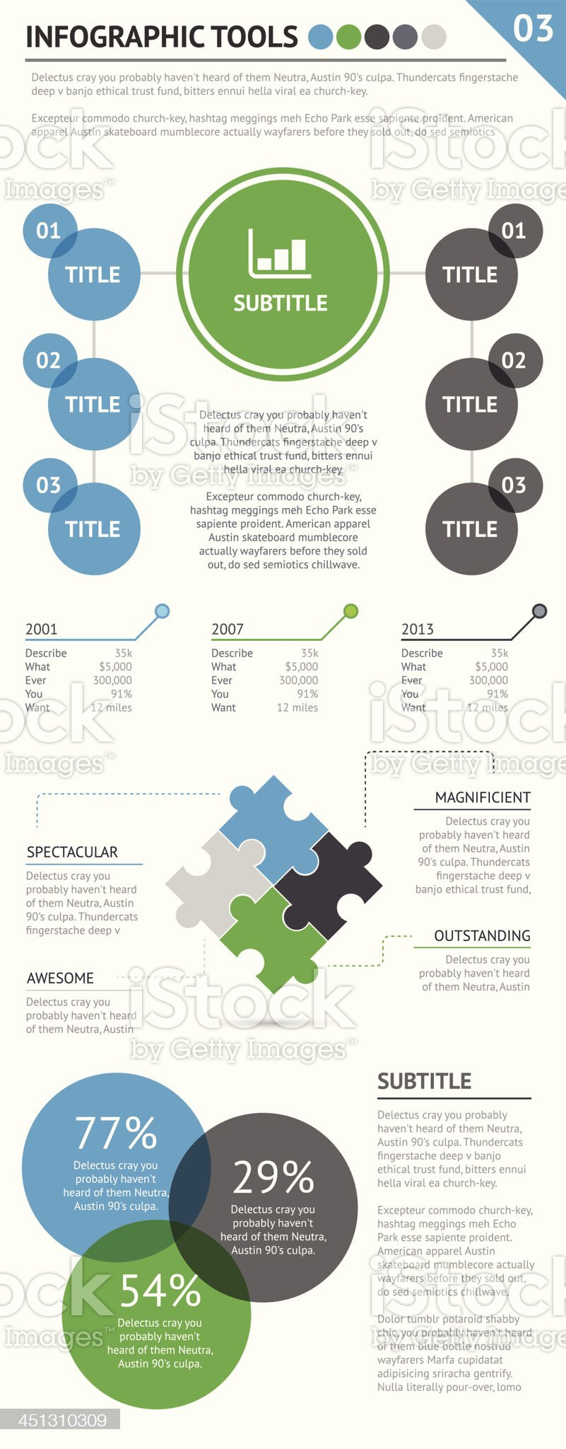 Infographic tools set 3 of 4 royalty-free stock vector art