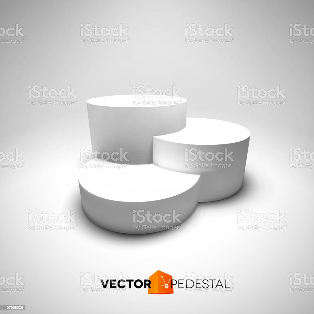 Infographic vector 3D pedestal vector art illustration