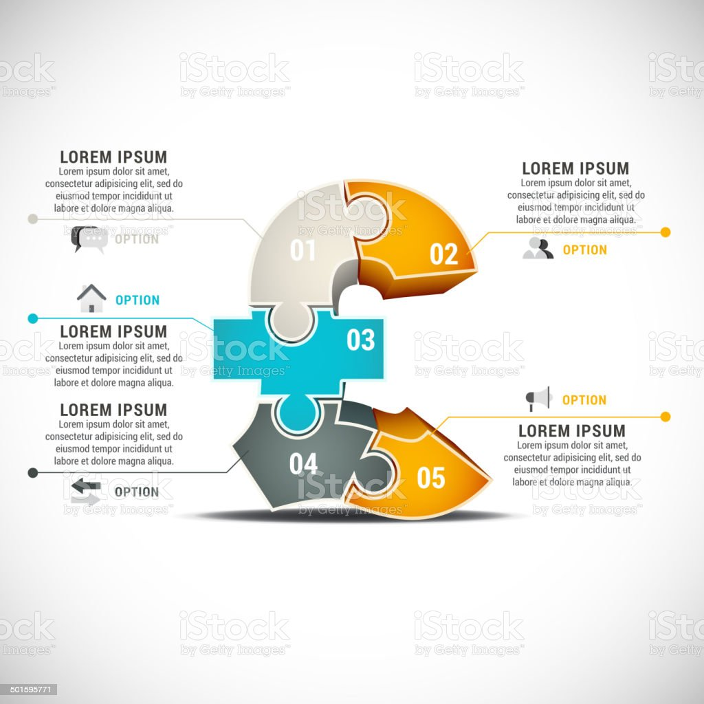 Infographic vector art illustration