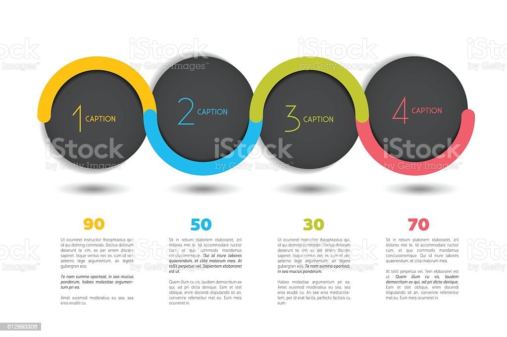 Infographic vector option banner with 4 steps.  Infographic template. vector art illustration
