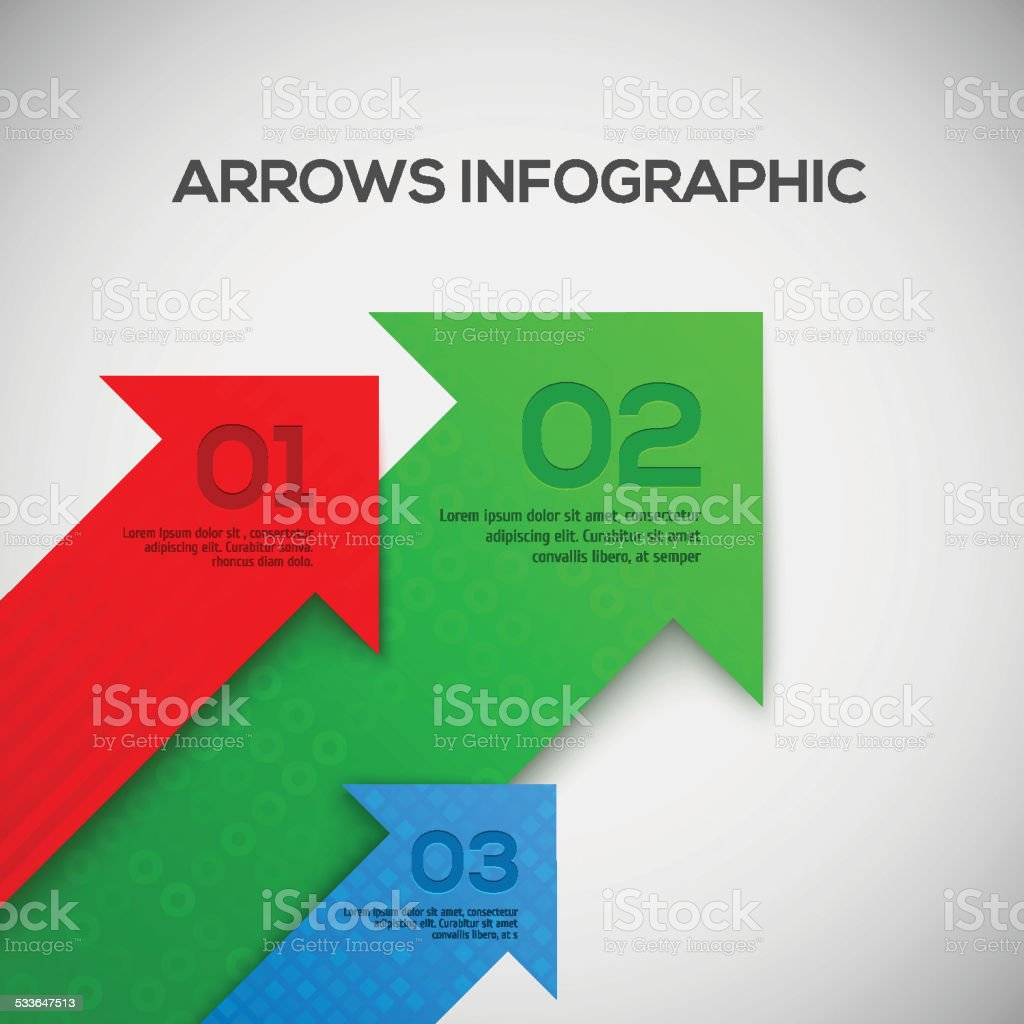 Infographic with 3D arrows. Vector. vector art illustration