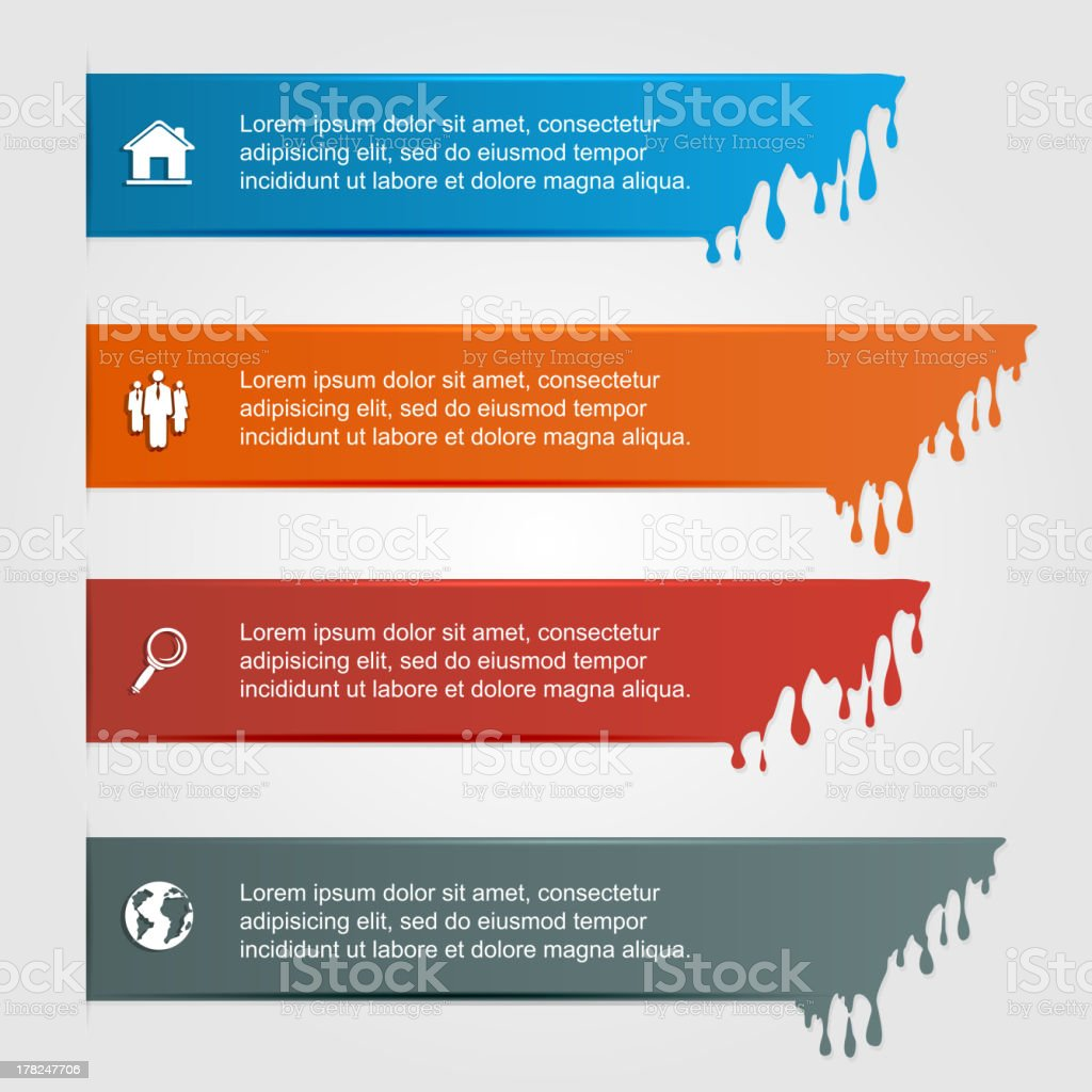 Infographic with drops royalty-free stock vector art
