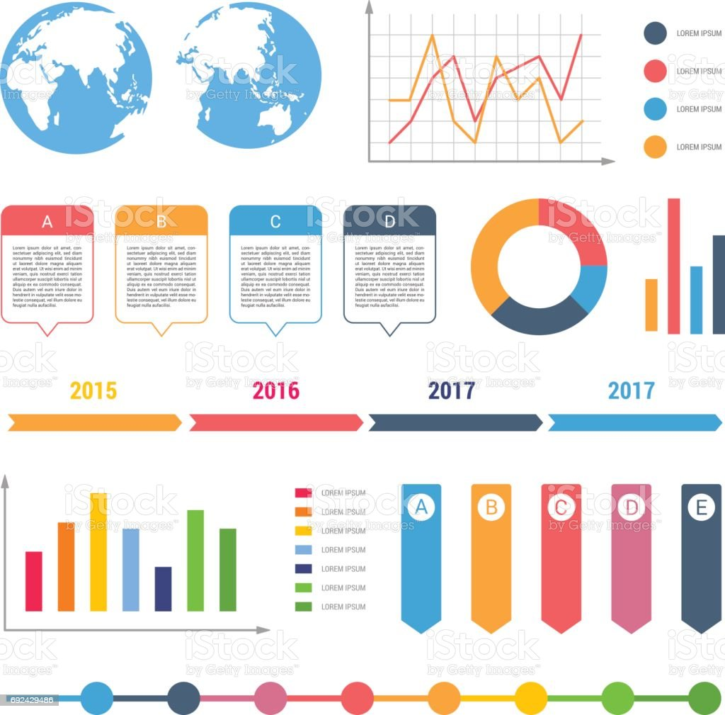 Table chart design - Infographic Workflow Diagrams Timeline Steps Chart Table Text Box Flowchart Design Elements Royalty Free Stock