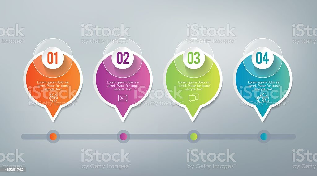 Infographics - 4 steps. royalty-free stock vector art