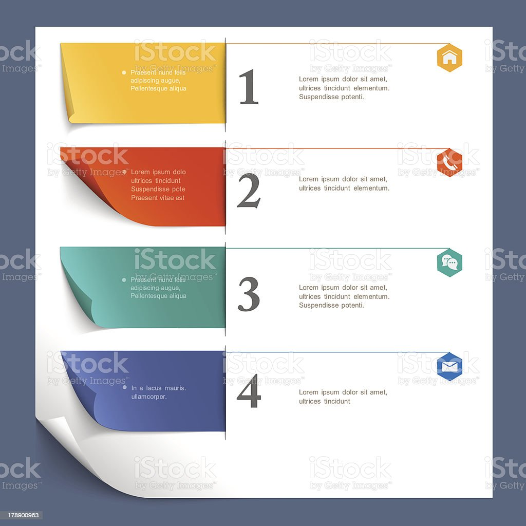 Infographics and web design template royalty-free stock vector art