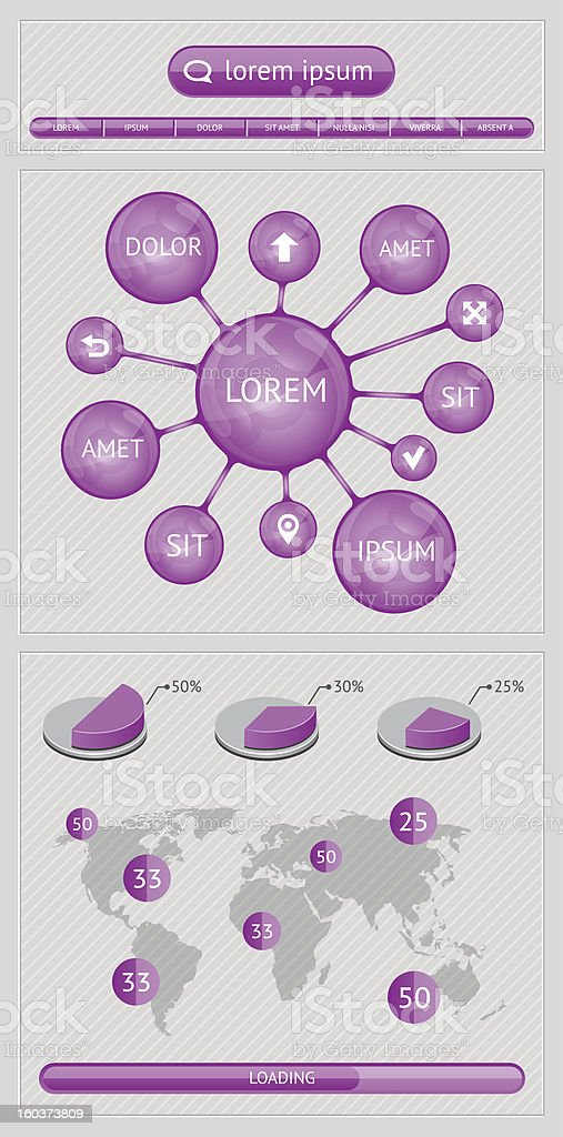 Infographics  and web elements royalty-free stock vector art