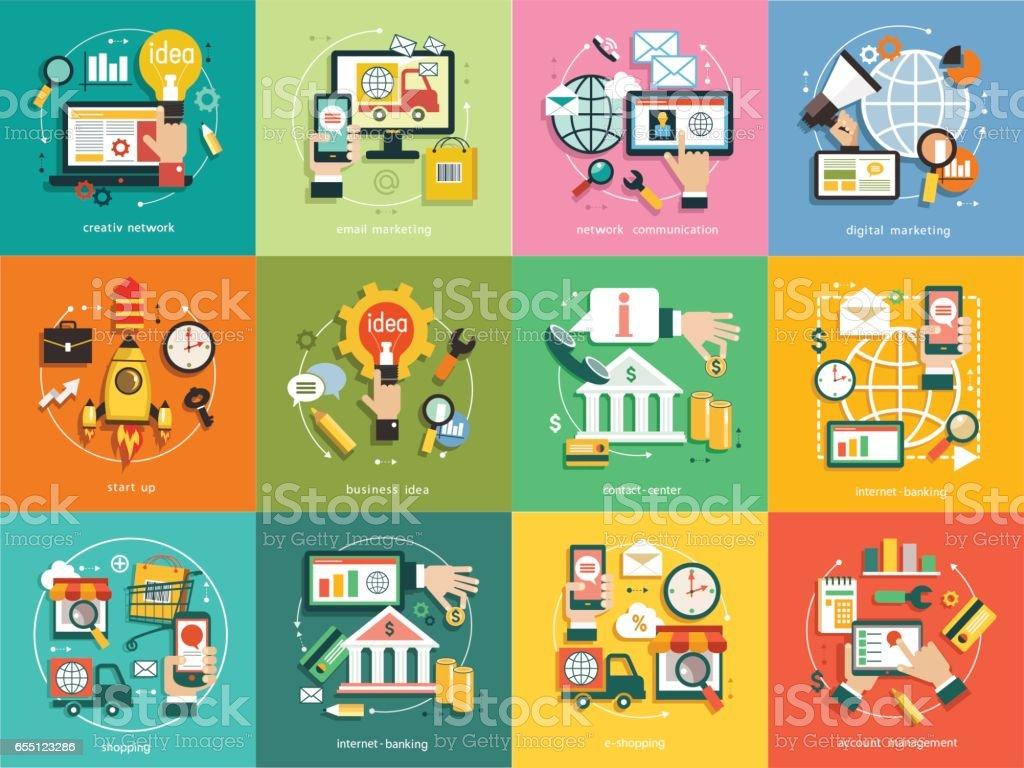 infographics background business vector art illustration