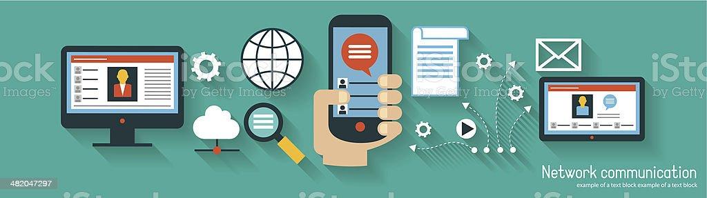 infographics background network communication 002 vector art illustration