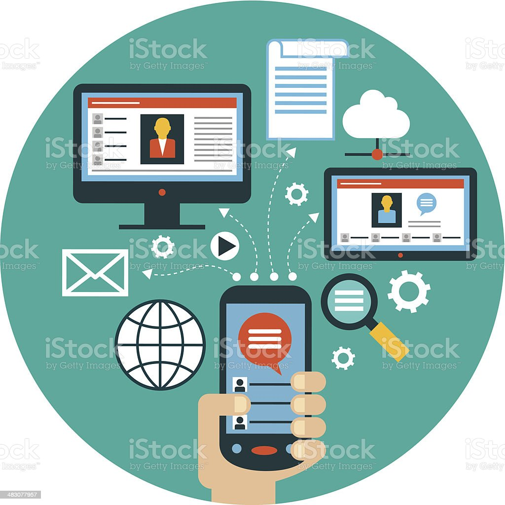 infographics background network communication royalty-free stock vector art