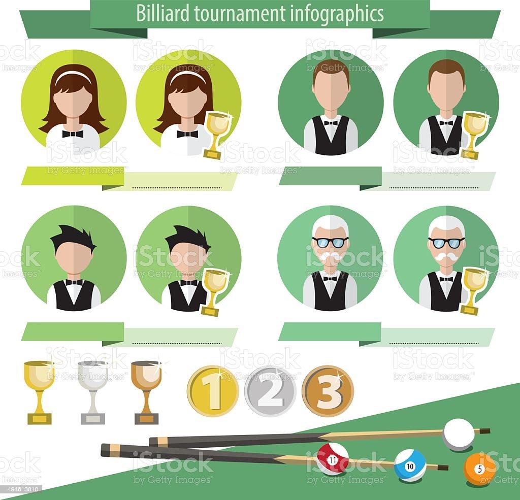 Infographics billiards vector art illustration