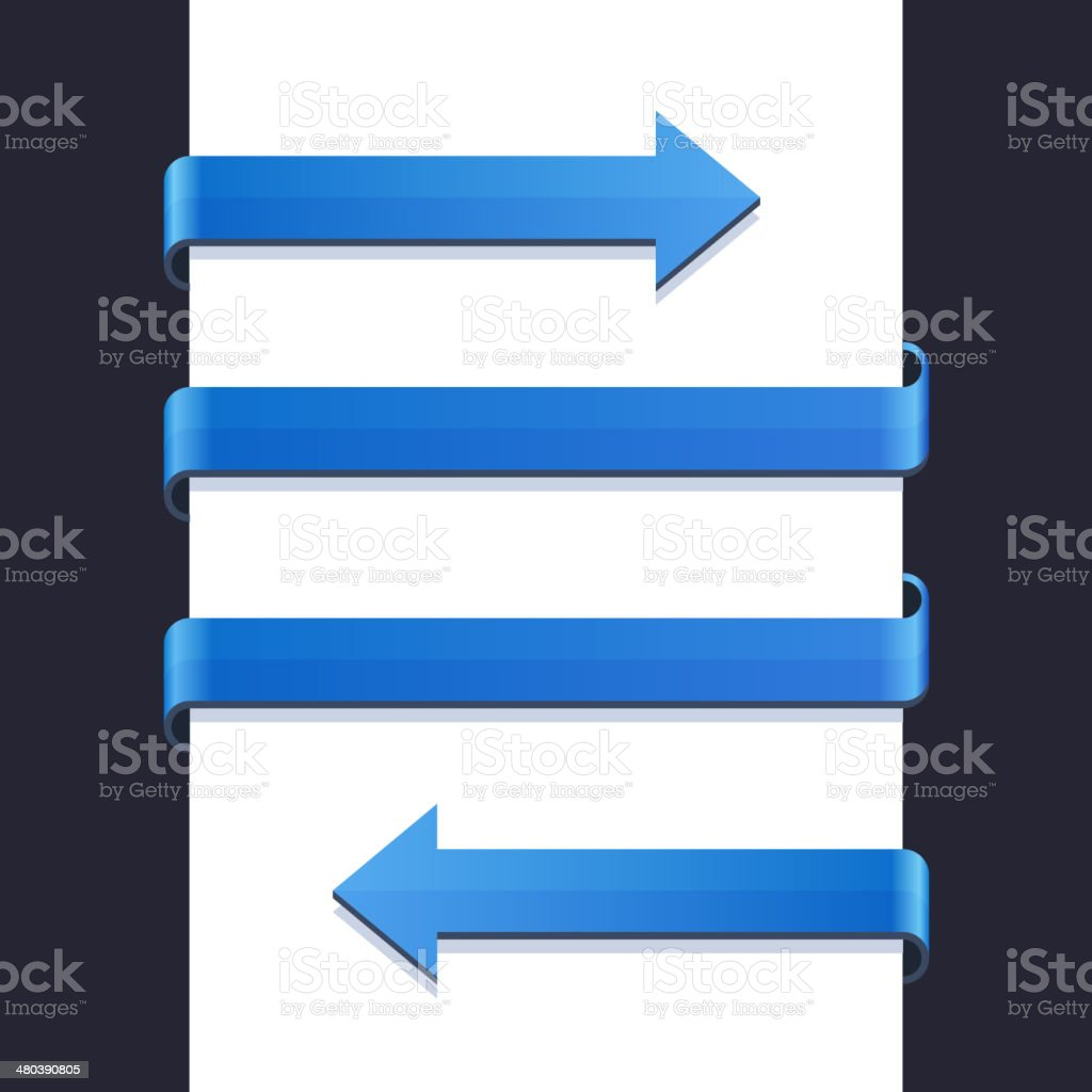 Infographics Blue Arrows on White Blank Background Vector royalty-free stock vector art