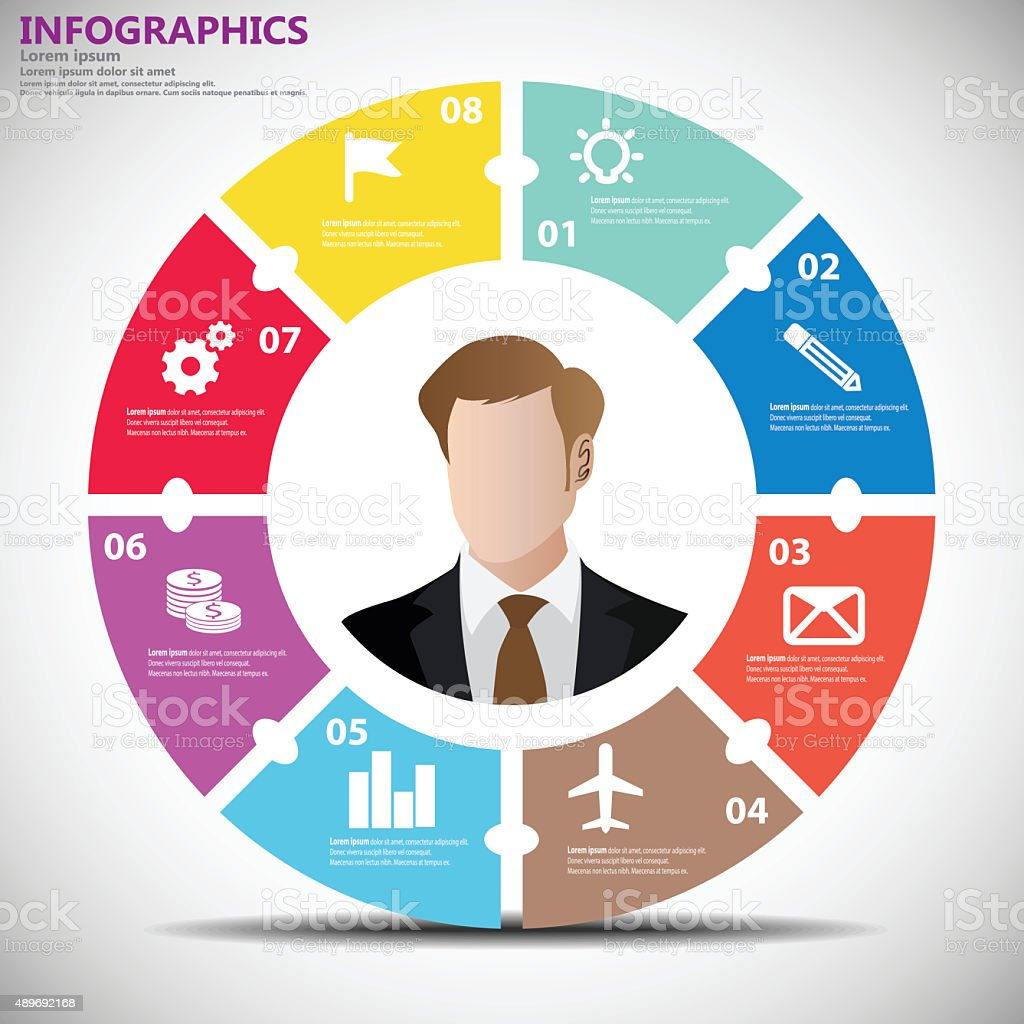 Infographics Business Circle vector art illustration