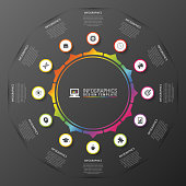 Infographics circle. Modern design template. Vector illustration