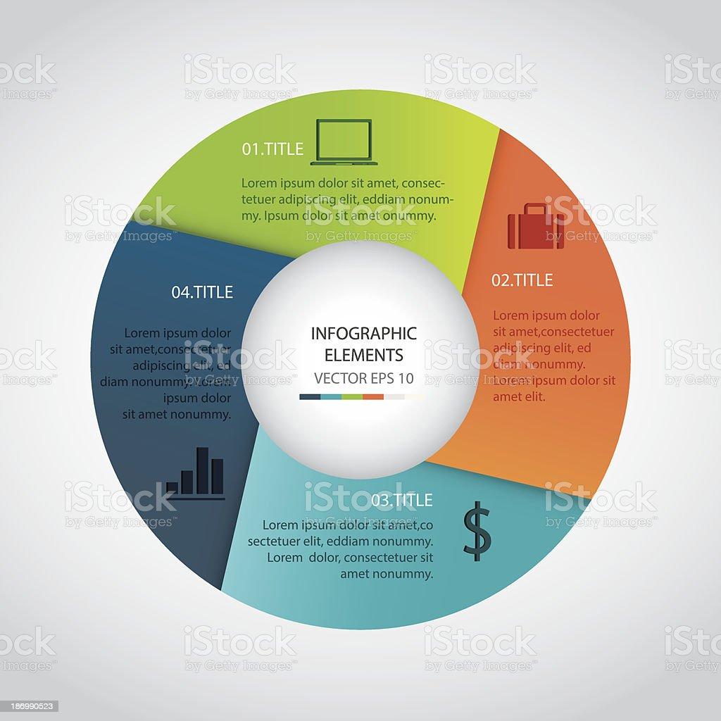Infographics circle royalty-free stock vector art