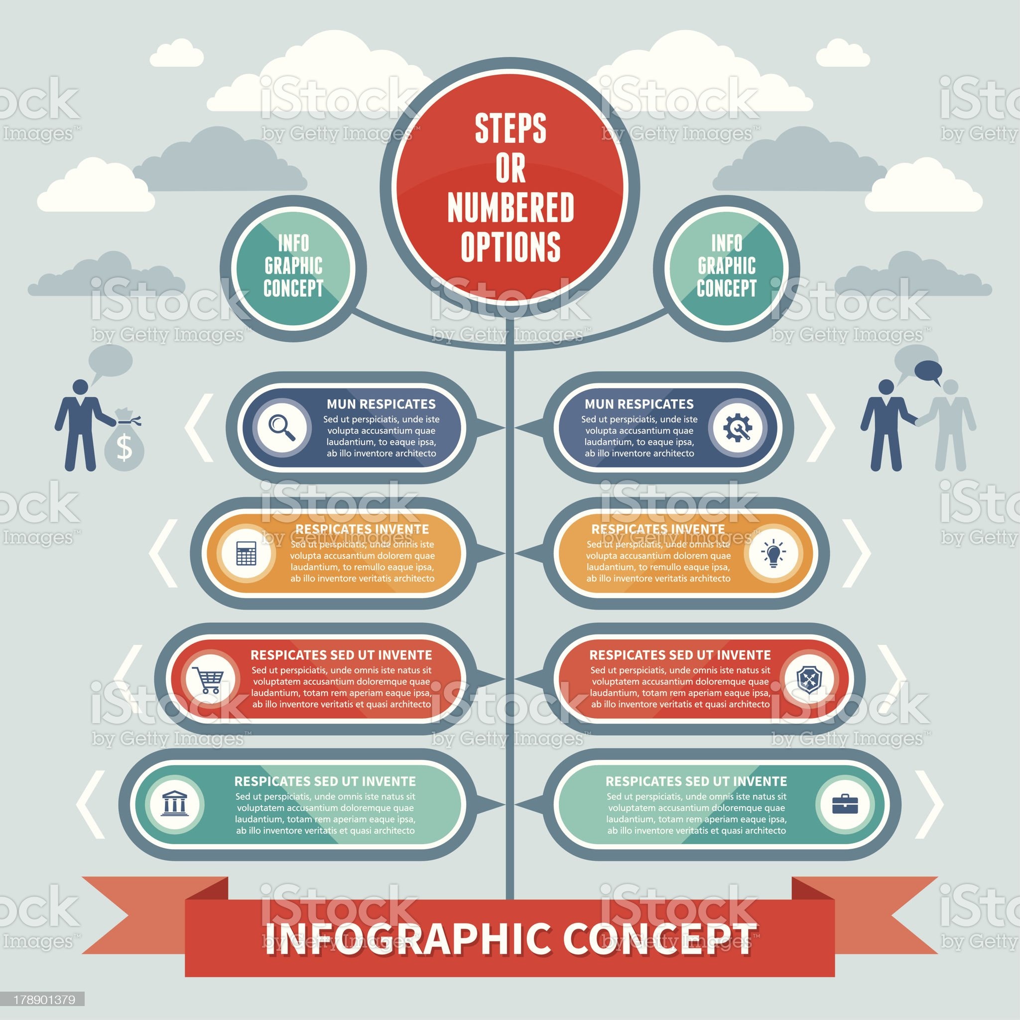 - Infographics Concept Steps or Numbered Options Vector Scheme royalty-free stock vector art