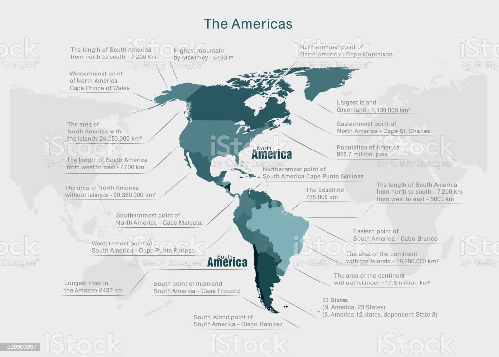 infographics continent America blue and gray vector vector art illustration