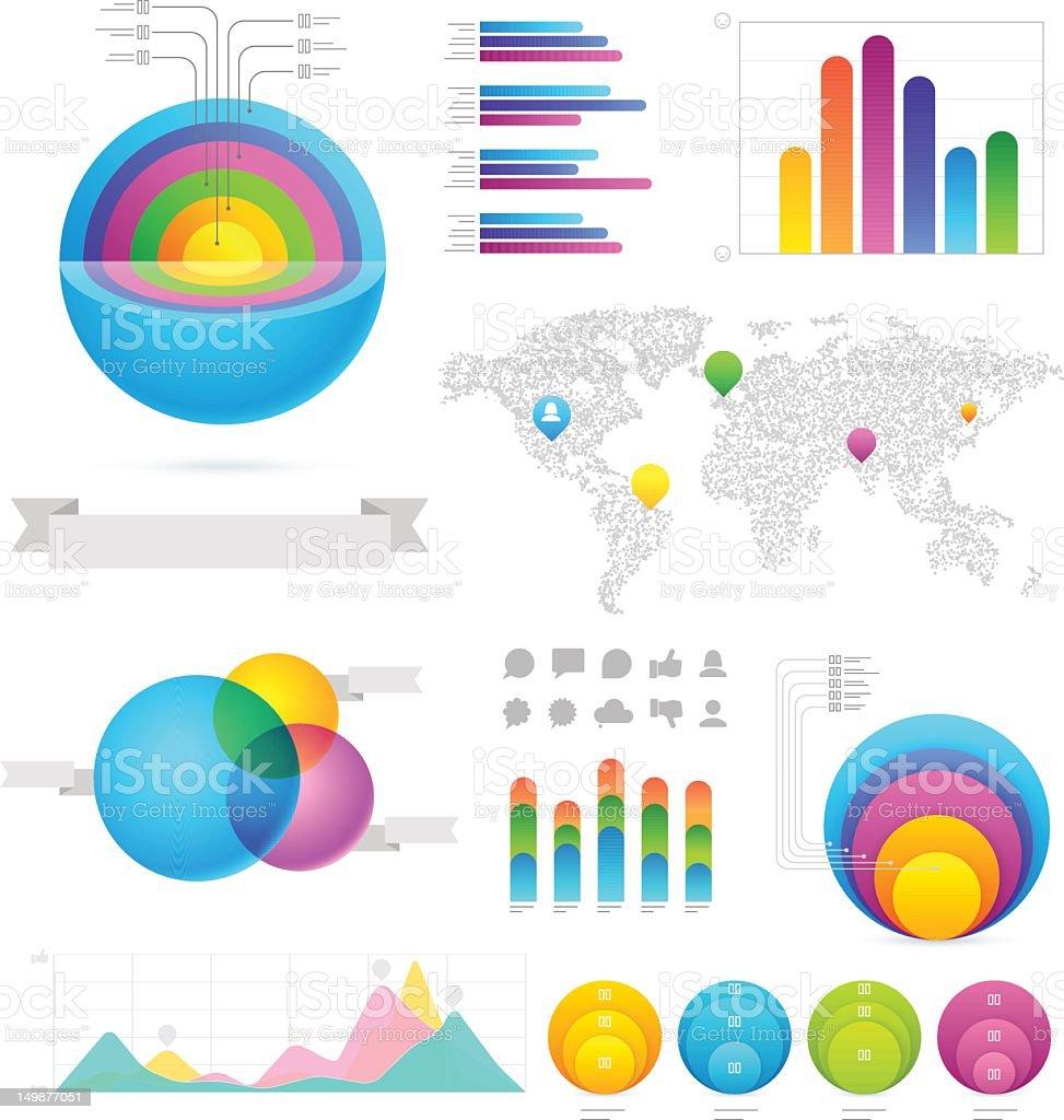 Infographics design elements & icons stock photo