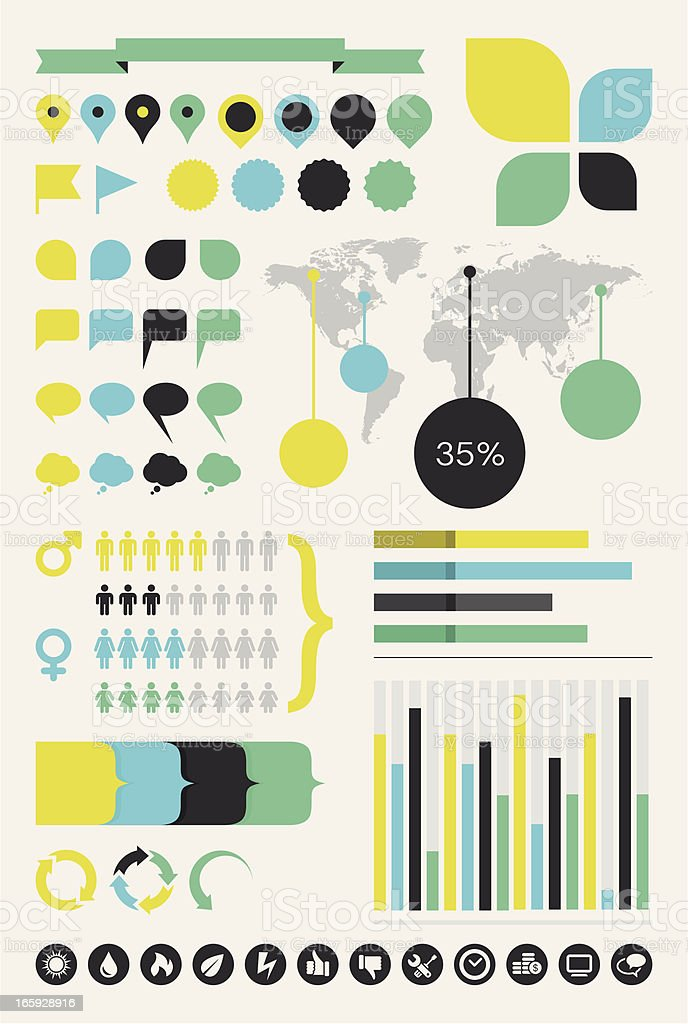 Infographics Design Elements vector art illustration