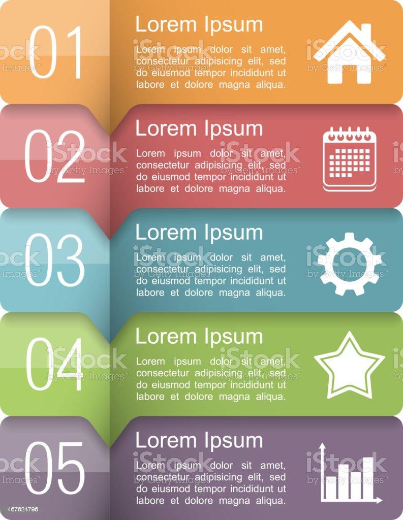 Infographics Design Elements vector art illustration