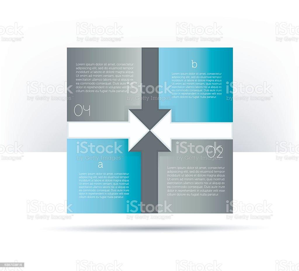 Infographics elements. Box diagram. vector art illustration