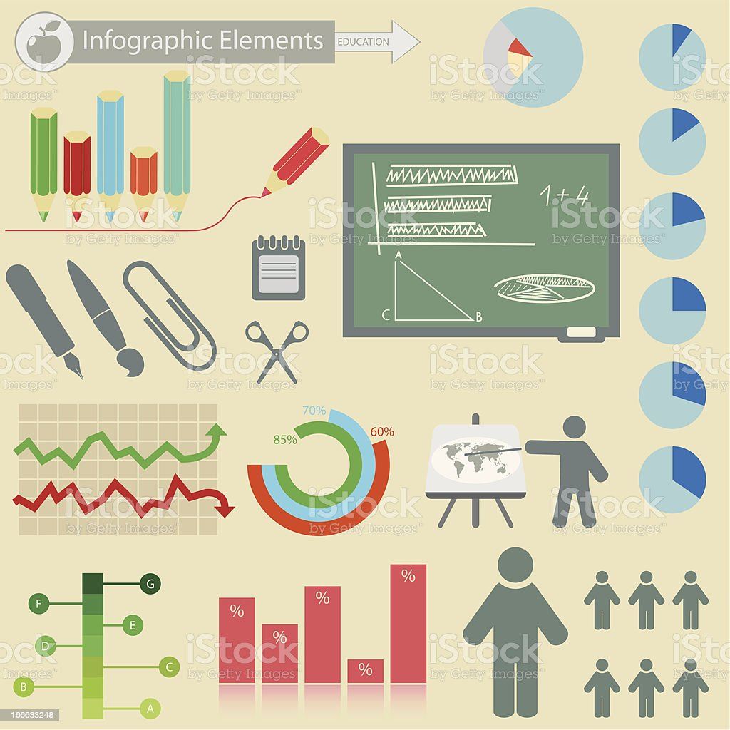 Infographics elements.  Education royalty-free stock vector art