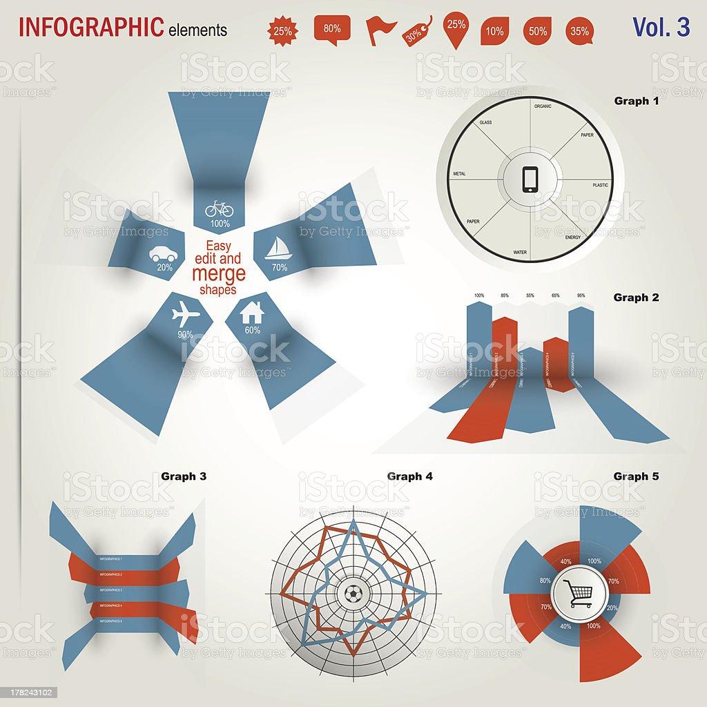 Infographics elements set royalty-free stock vector art