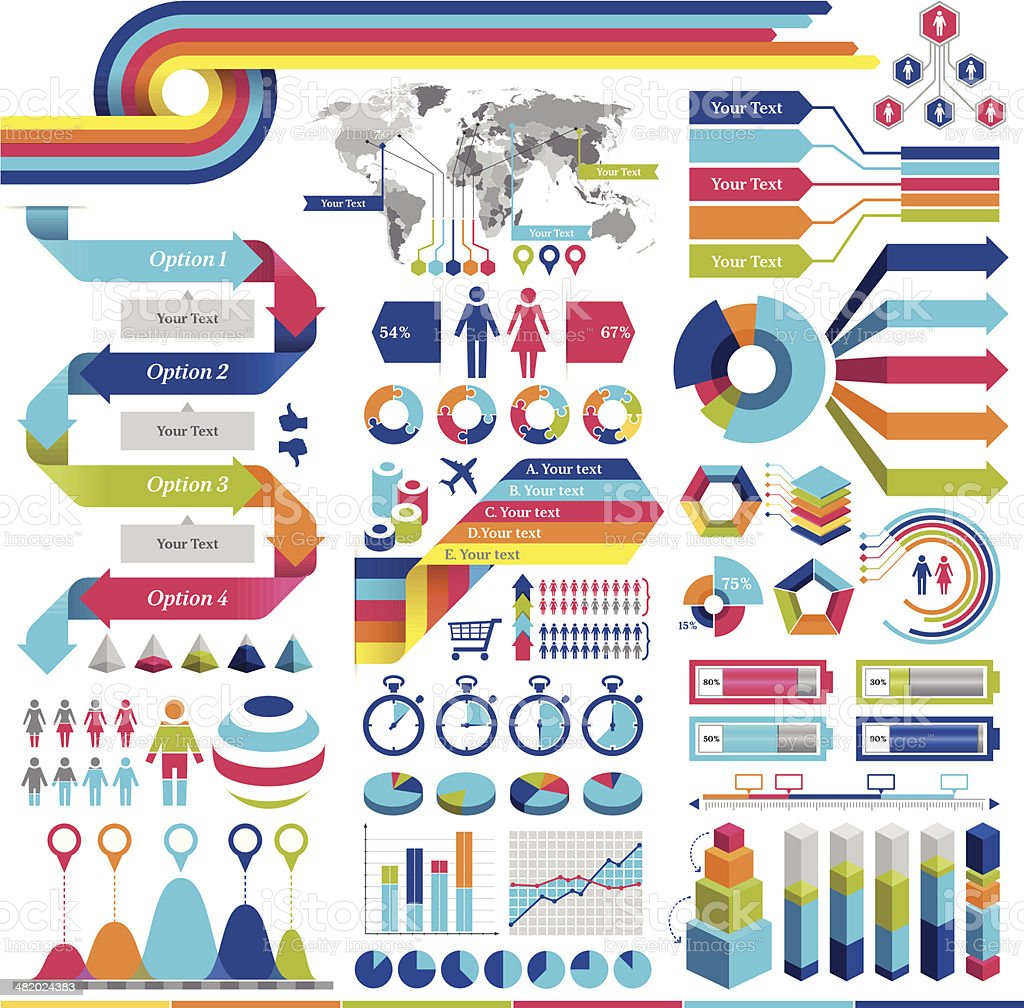 Infographics Elements vector art illustration