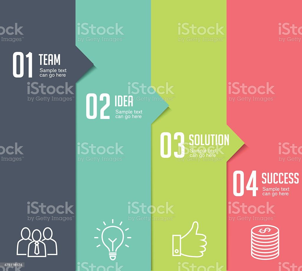 Infographics - Four Steps vector art illustration