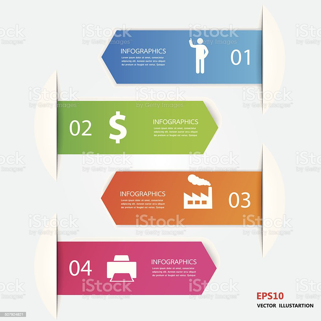 Infographics number options vector art illustration