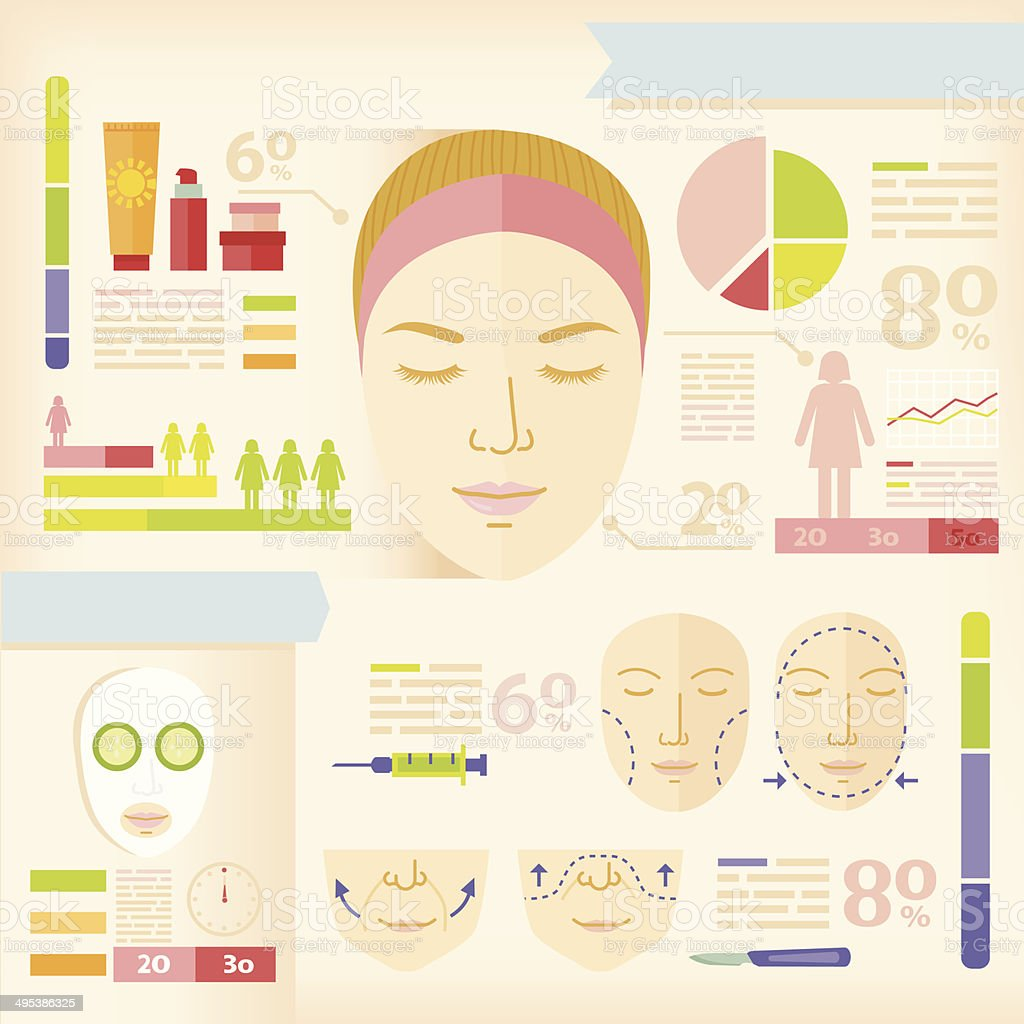 infographics of beauty vector art illustration
