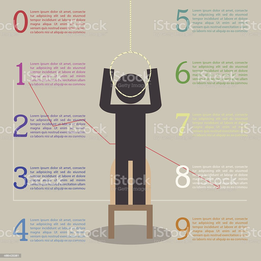 Infographics of the effects of stress vector art illustration