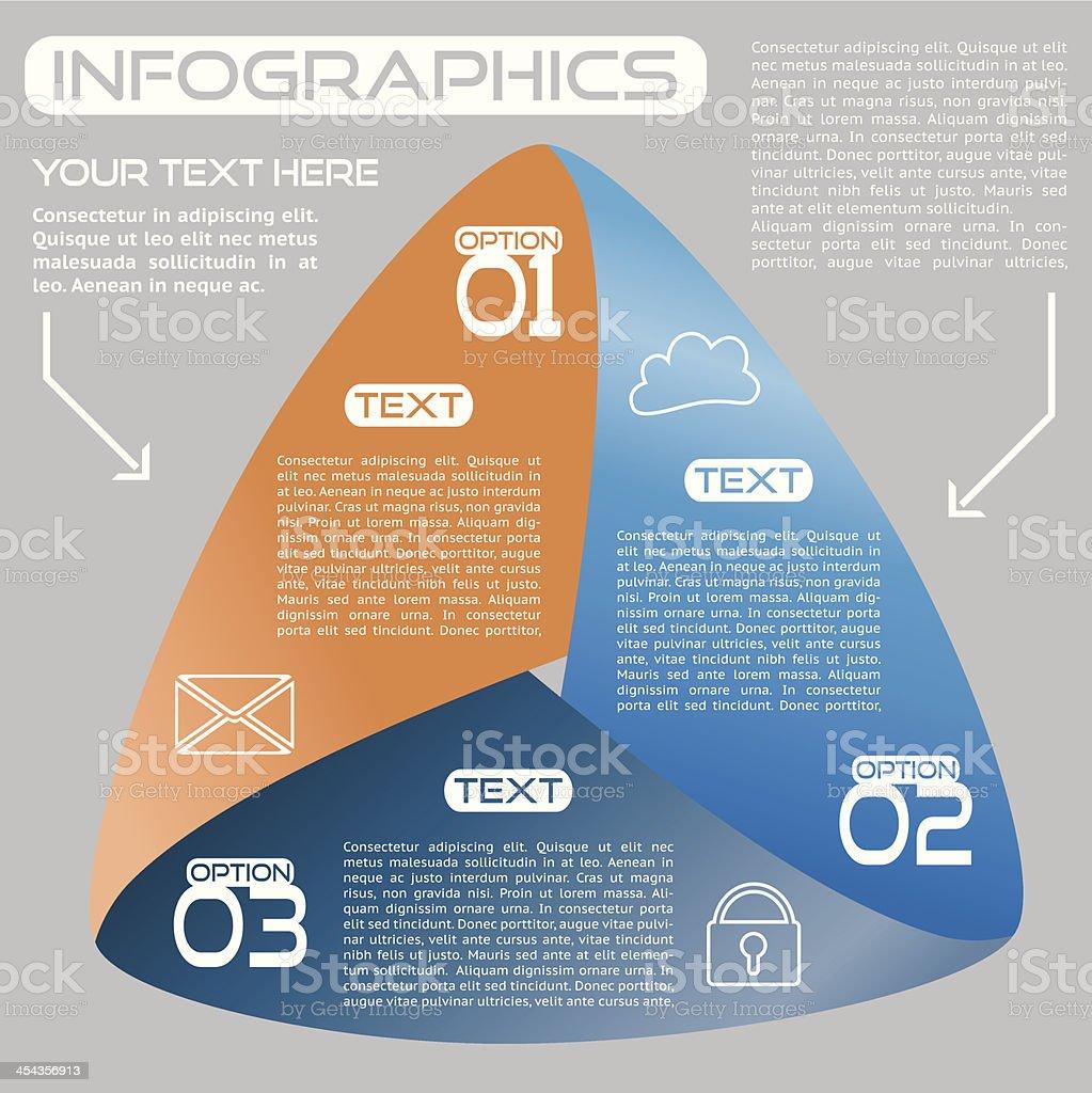 Infographics Options Infinite Ribbon Bright Three Choices royalty-free stock vector art