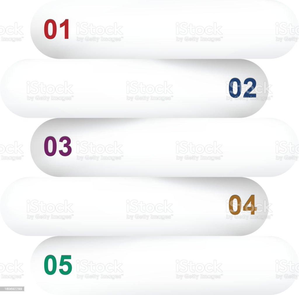 Infographics paper design. vector art illustration