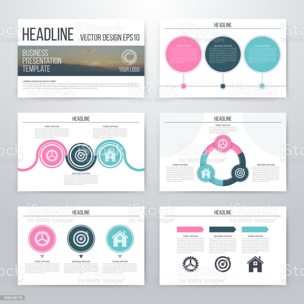 infographics presentation template flat design のイラスト素材