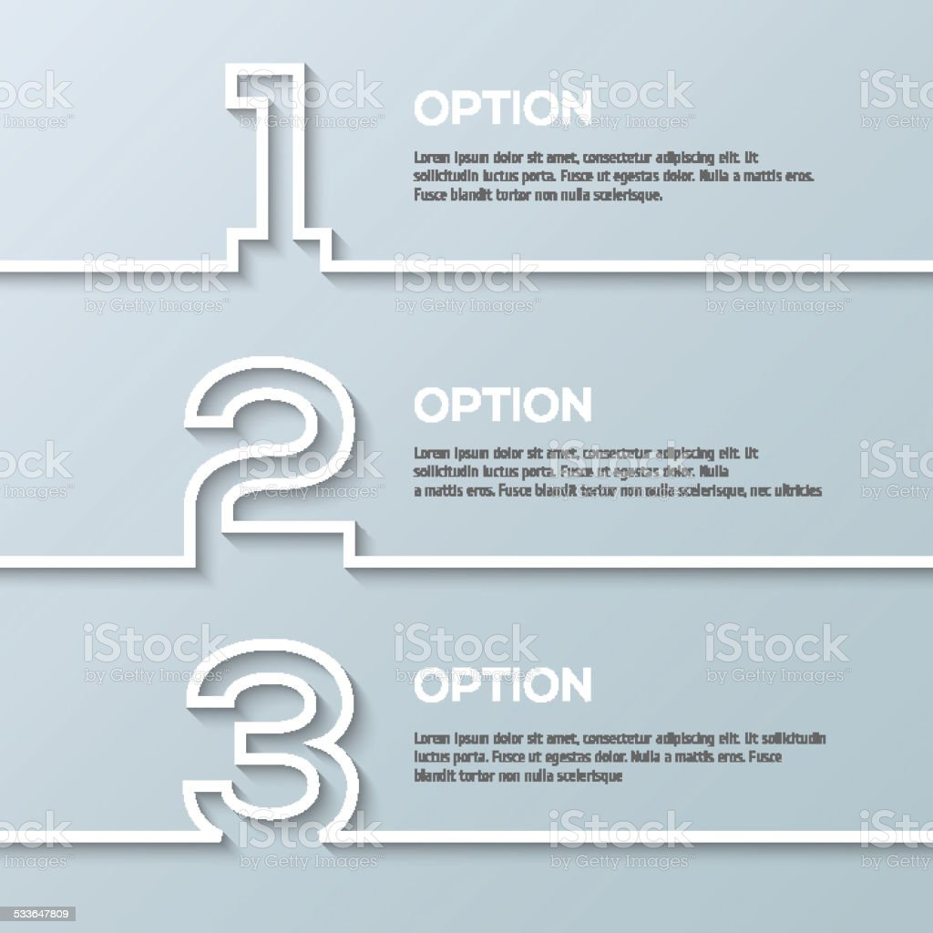 Infographics process template with set of numbers made in line vector art illustration