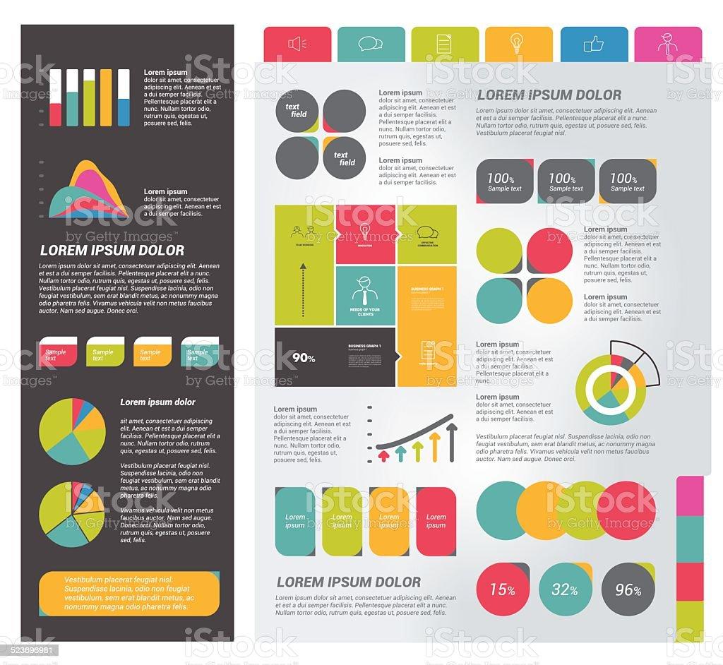 Infographics set elements. vector art illustration