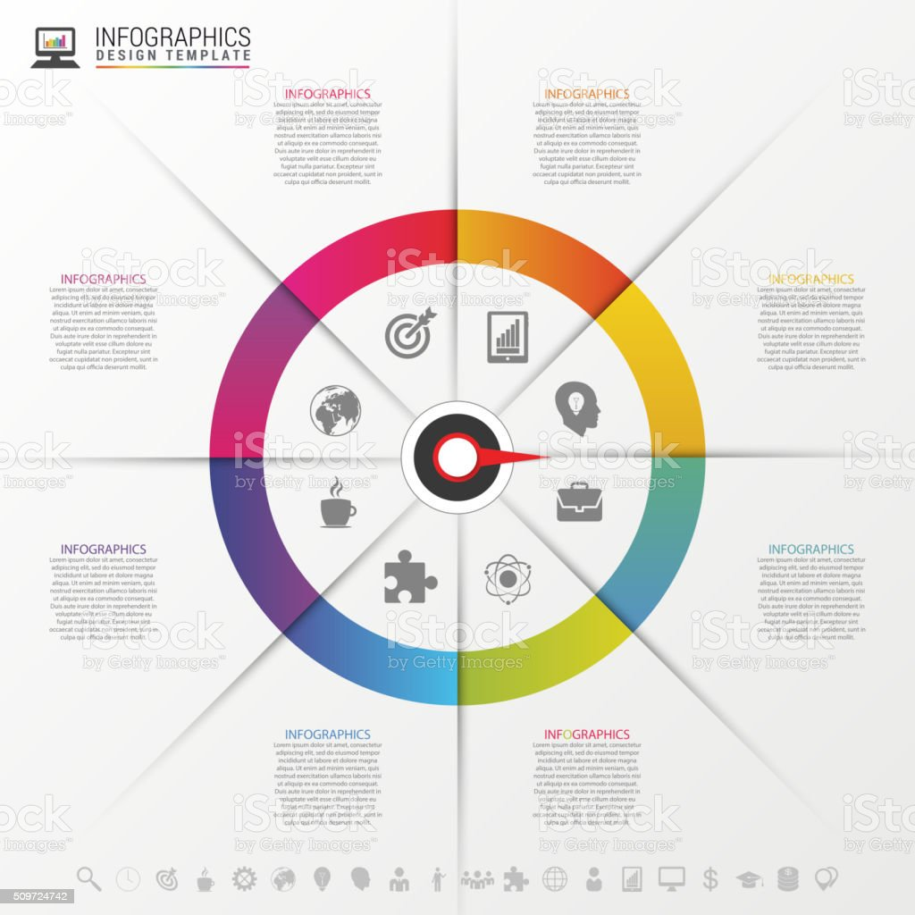 Infographics step by step with pointer. Business concept. Vector vector art illustration