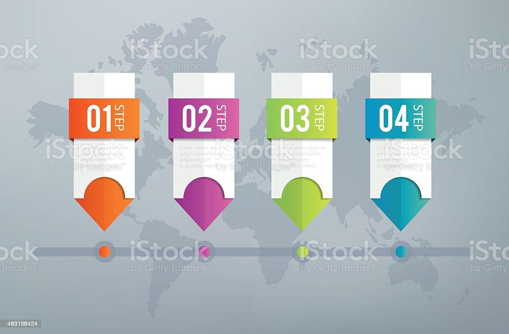 Infographics Timeline vector art illustration