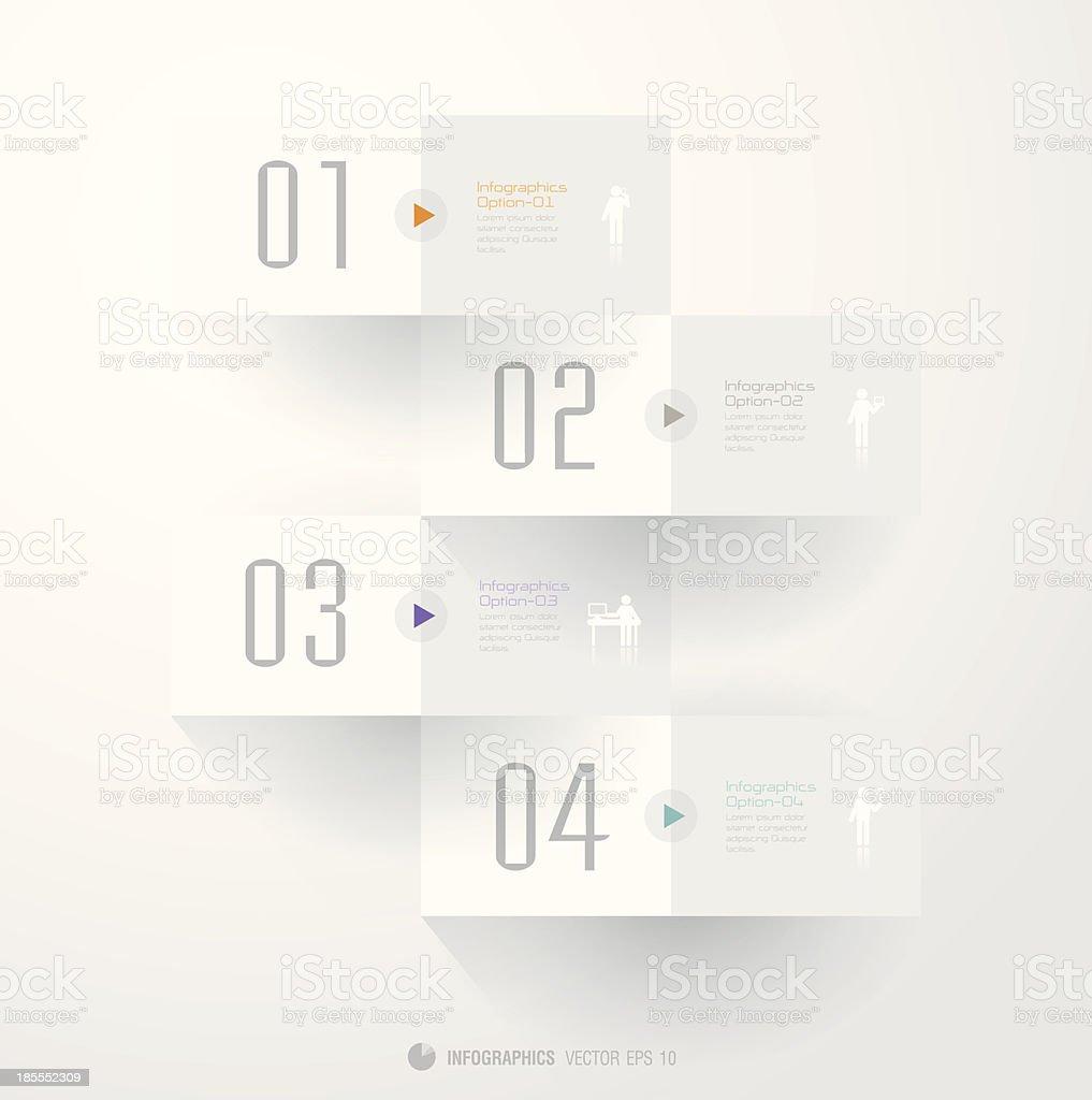 Infographics vector design template. royalty-free stock vector art