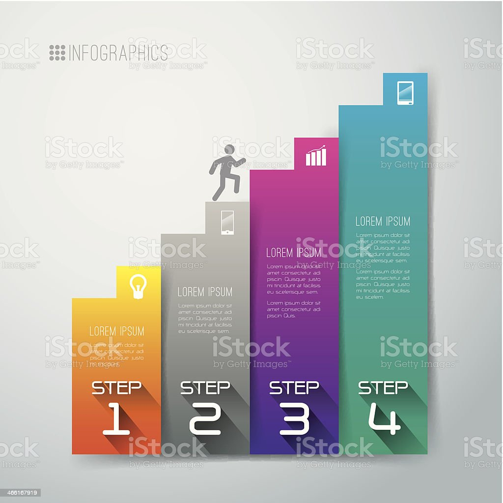 Infographics vector design template. vector art illustration