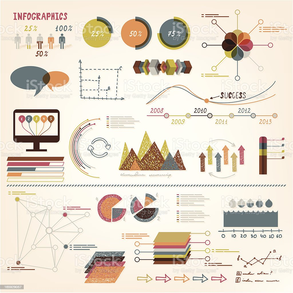 Infographics vector elements royalty-free stock vector art
