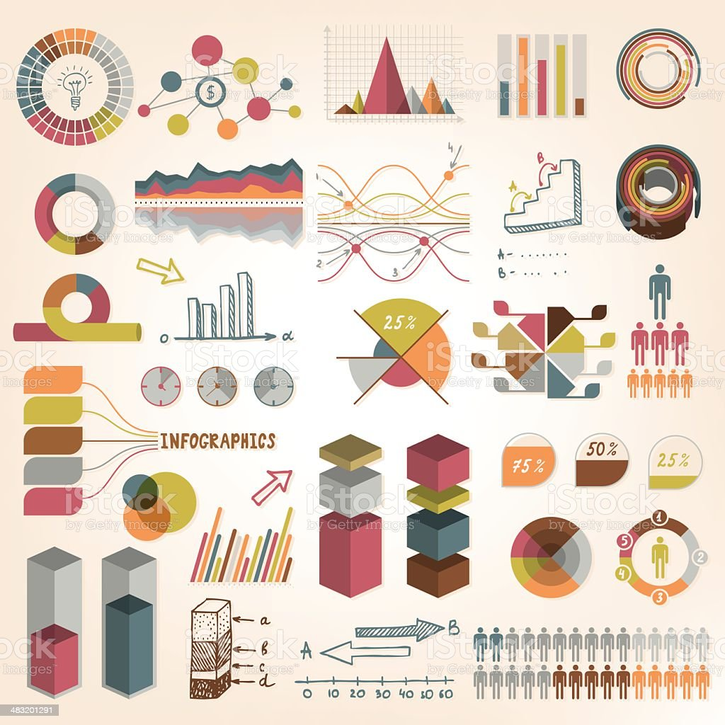 Infographics vector elements royalty-free stock vector art